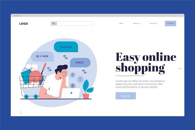 Motyw zakupów online na stronie docelowej