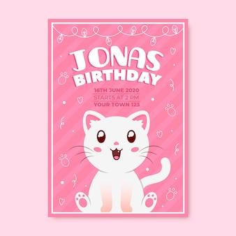 Motyw zaproszenia na urodziny dla dzieci