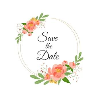 Motyw zaproszenia ślubne kwiatowy