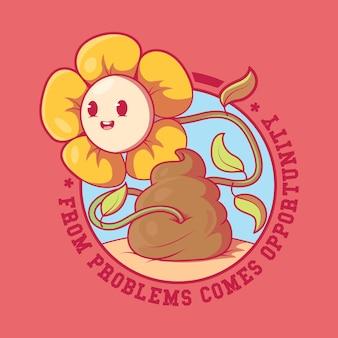 Motywacja flower illustration inspiracja sukces motywacja koncepcja projektowa
