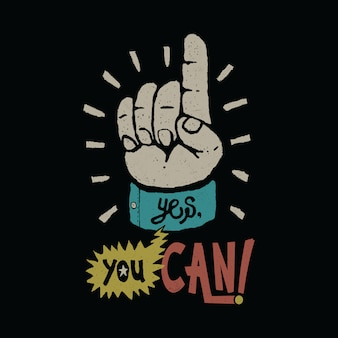 Motywacja typografia ilustracja graficzna projekt koszulki sztuki wektorowej