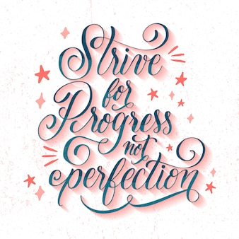 Motywacyjna kaligrafia z gwiazdami