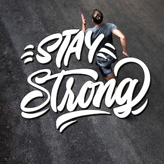 Motywacyjna typografia ze zdjęciem