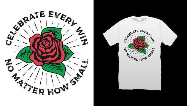 Motywacyjne cytaty projekt koszulki