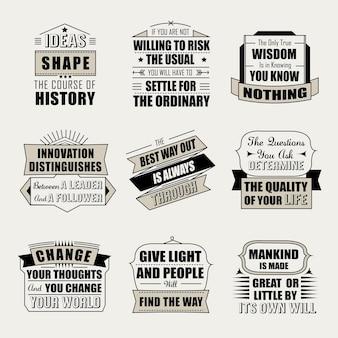 Motywacyjne i inspirujące cytaty na białym tle na beżowym tle