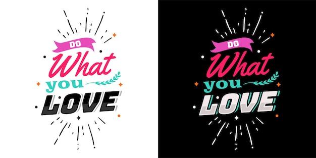 Motywacyjne strony napis typografia cytat