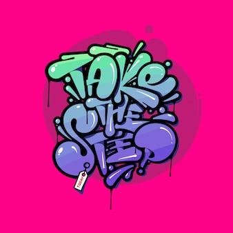 Motywacyjny cytat, zrób krok dzisiaj, ręcznie rysowana typografia