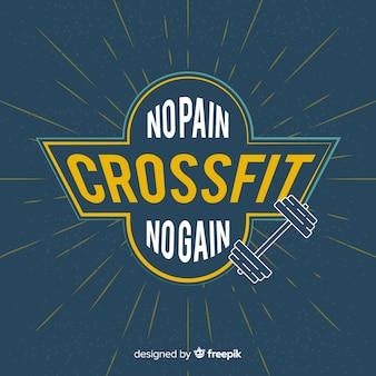 Motywacyjny napis crossfit: bez bólu, bez zysku.