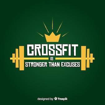 Motywacyjny napis: crossfit jest silniejszy niż wymówki