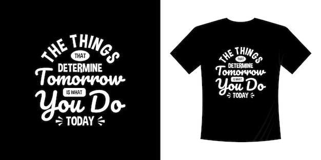 Motywacyjny napis typografia t shirt design napis odręczny styl