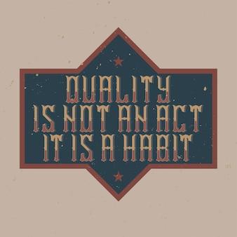 Motywacyjny plakat vintage napis.
