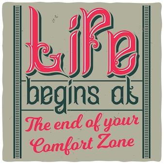 Motywacyjny plakat z inspirującym cytatem