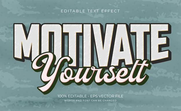 Motywuj edytowalny efekt tekstowy premium wektor
