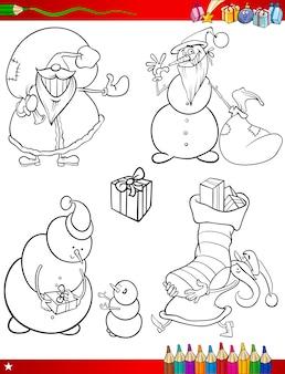 Motywy świąteczne kreskówki kolorowanki