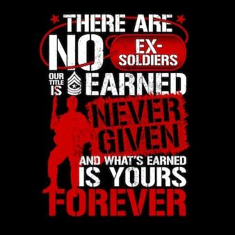 Motywy weterana, nie ma byłych żołnierzy, wzory patriotyczne