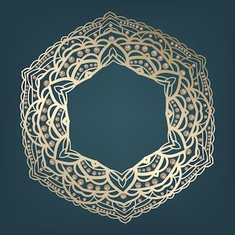 Motywy złotej mandali arabskiej i indyjskiej