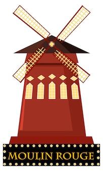 Moulin rouge z wiatrakiem
