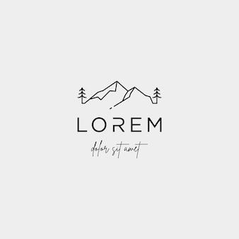 Mountain logo vector symbol krajobrazu linii projektu