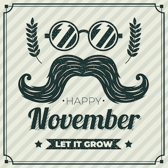 Movember koncepcja z rocznika