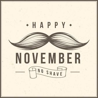 Movember wąsy w stylu vintage