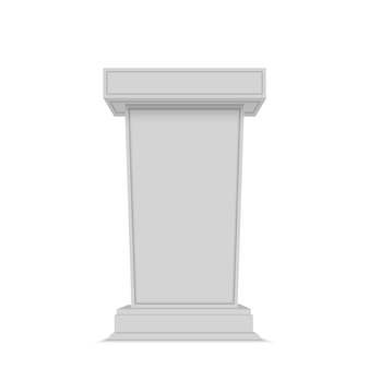 Mówca podium. white tribune rostrum stand