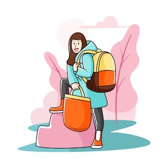 Może podarować nowe torby do szkoły