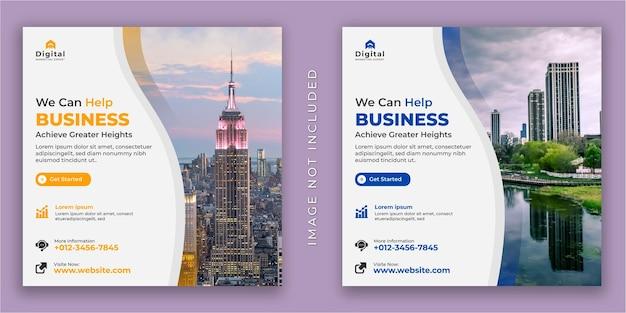Możemy pomóc twojej agencji marketingowej i ulotce korporacyjnej. post na instagramie w mediach społecznościowych lub szablon banera internetowego