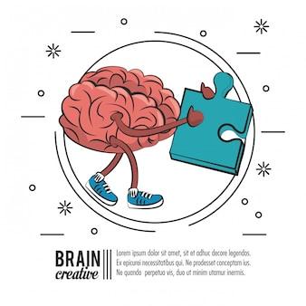Mózg kreatywnych plakat szablon z informacji