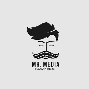Mr media logo concept