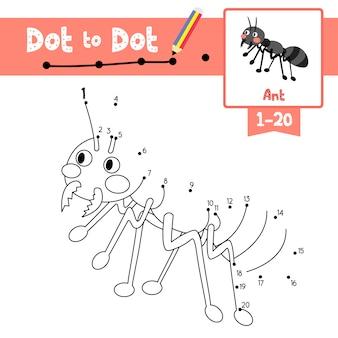 Mrówka kropka kropka gra i kolorowanka