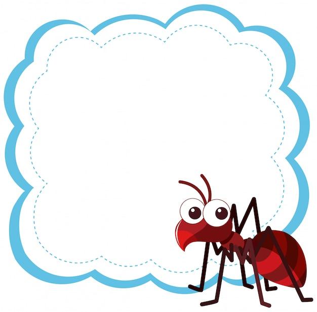 Mrówka na pustym tle