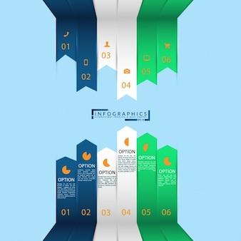 Multicolor infografika projekt