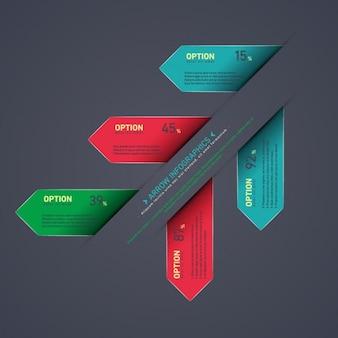 Multicolor infografika szablon