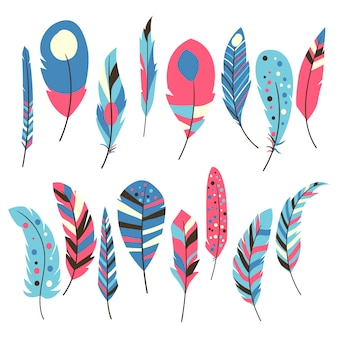 Multicolor kolekcji piór