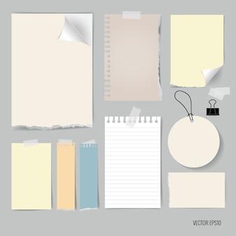 Multicolor notatki kolekcji
