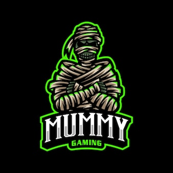Mumia esport logo maskotka do gier