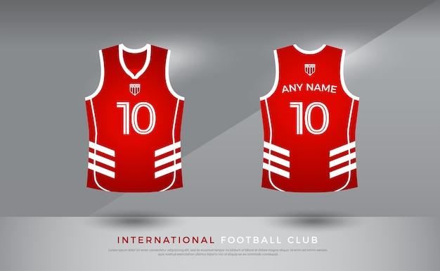 Mundur koszykówki t-shirt. szablon koszulki do koszykówki. kolor czerwony i biały