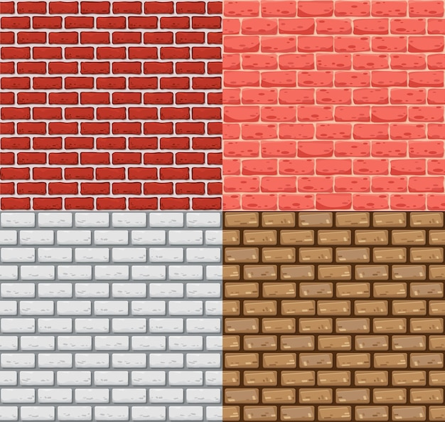 Mur z cegły bez szwu. realistyczny kolor tekstury kamienia. dekoracyjne wzory do wnętrz w stylu loft. szablon projektu tła.