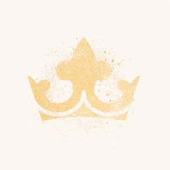 Musująca korona w brokacie
