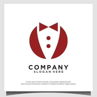 Muszka tuxedo garnitur gentleman fashion tailor clothes vintage classic logo design