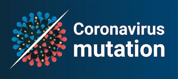 Mutacja Koronawirusa Nowa Forma Ilustracji Covid Premium Wektorów