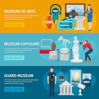 Muzeum poziome banner sztuki
