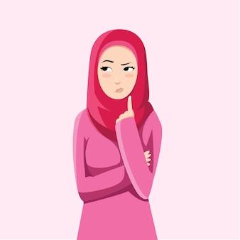 Muzułmanka jest podejrzliwa
