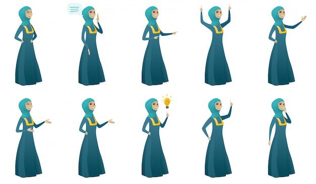 Muzułmańska kobieta biznesu zestaw