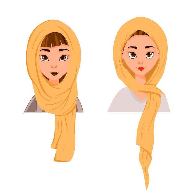 Muzułmańska kobieta w szaliku, burka