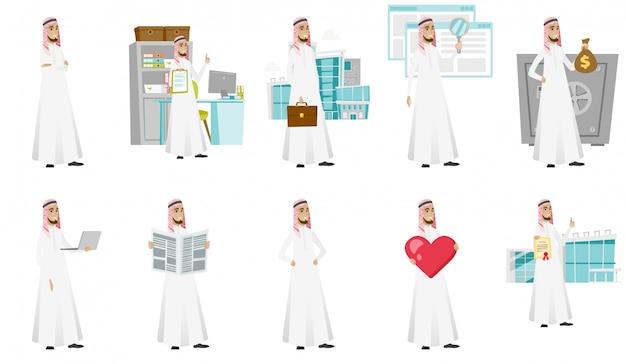 Muzułmański biznesmen zestaw