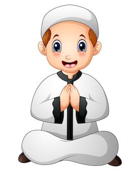 Muzułmańskie dziecko kreskówka