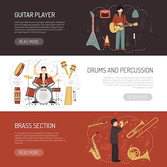 Muzycy poziome banery