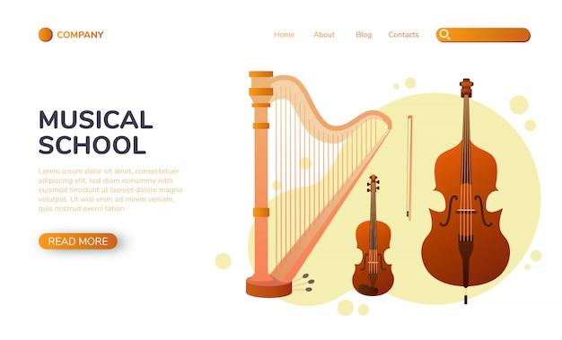Muzyczna strona docelowa, instrumenty strunowe