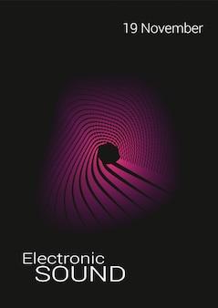 Muzyczny abstrakcjonistyczny plakat.